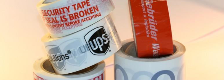 Potištěné lepící pásky